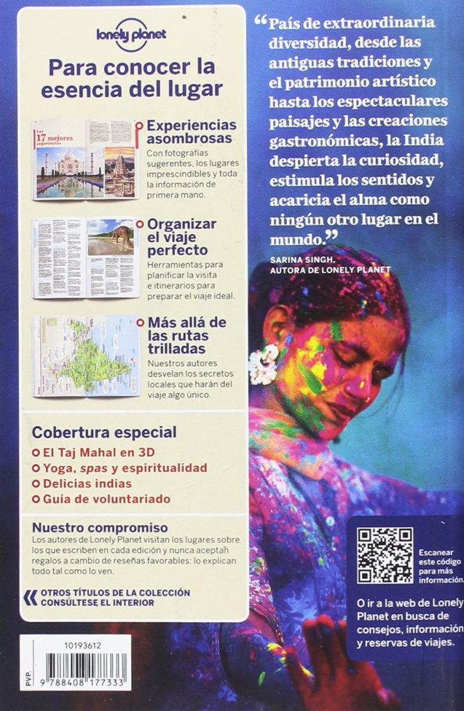 India 7 Lonely Planet contraportada