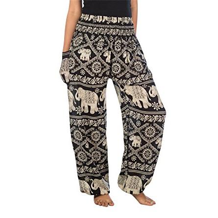 pantalones con elefantes de india